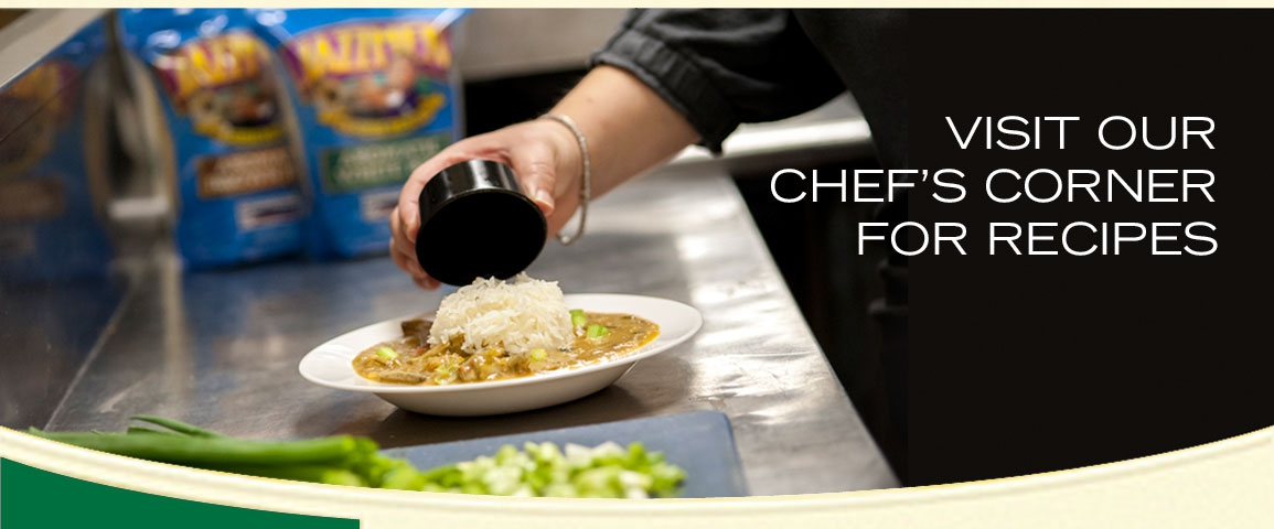 Visit Our Chef's Corner for Recipes